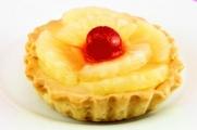 Pineapple and cherries tart